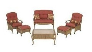 Martha Stewart Living Belle Isle loveseat, lounge chairs and ottoman Cushions