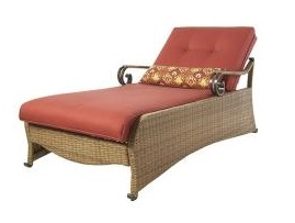 Martha Stewart Living Belle Isle Patio Chaise Lounge Cushion