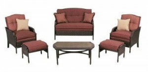Martha Stewart Living Palamos Wicker 6pc Patio Set Cushions loveseat cushions and chair cushions