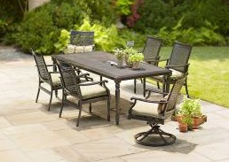 Martha Stewart Living Pembroke 7-Piece Patio Dining cushions